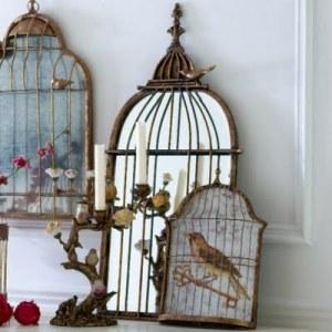 Chez minette birdcage mirror